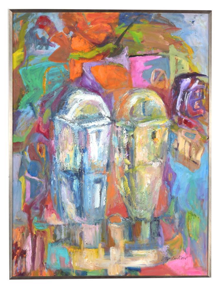 PARKING METERS BY MIMI MEDNIKOW (AMERICAN, 1925-2015).