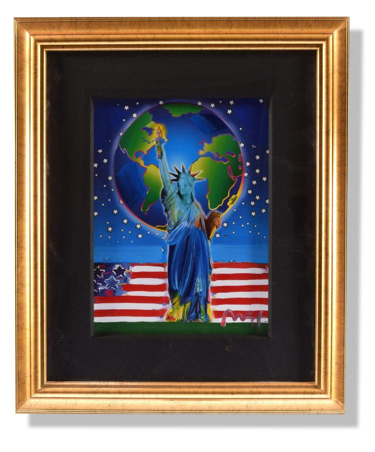 PEACE ON EARTH 9/11 TRIBUTE BY PETER MAX (AMERICAN, B. 1937).