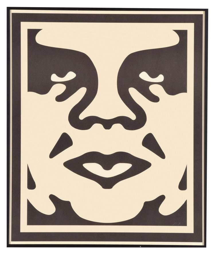 OBEY (ANDRE THE GIANT HAS A POSSE) BY SHEPARD FAIREY (AMERICAN, B. 1970).