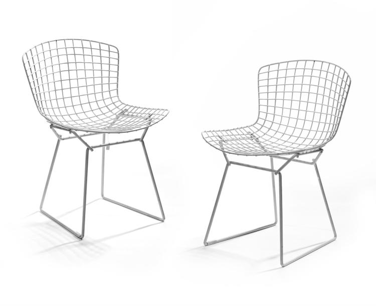 PAIR OF WIREWORK CHAIRS BY HARRY BERTOIA FOR KNOLL.