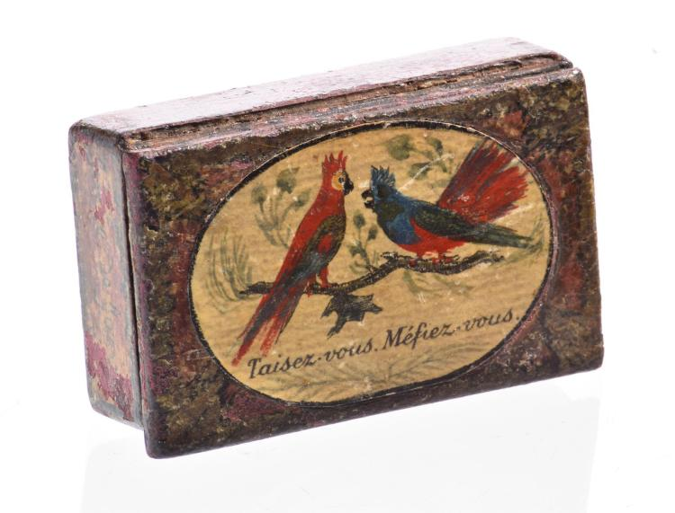 FRENCH LACQUER SNUFF BOX.