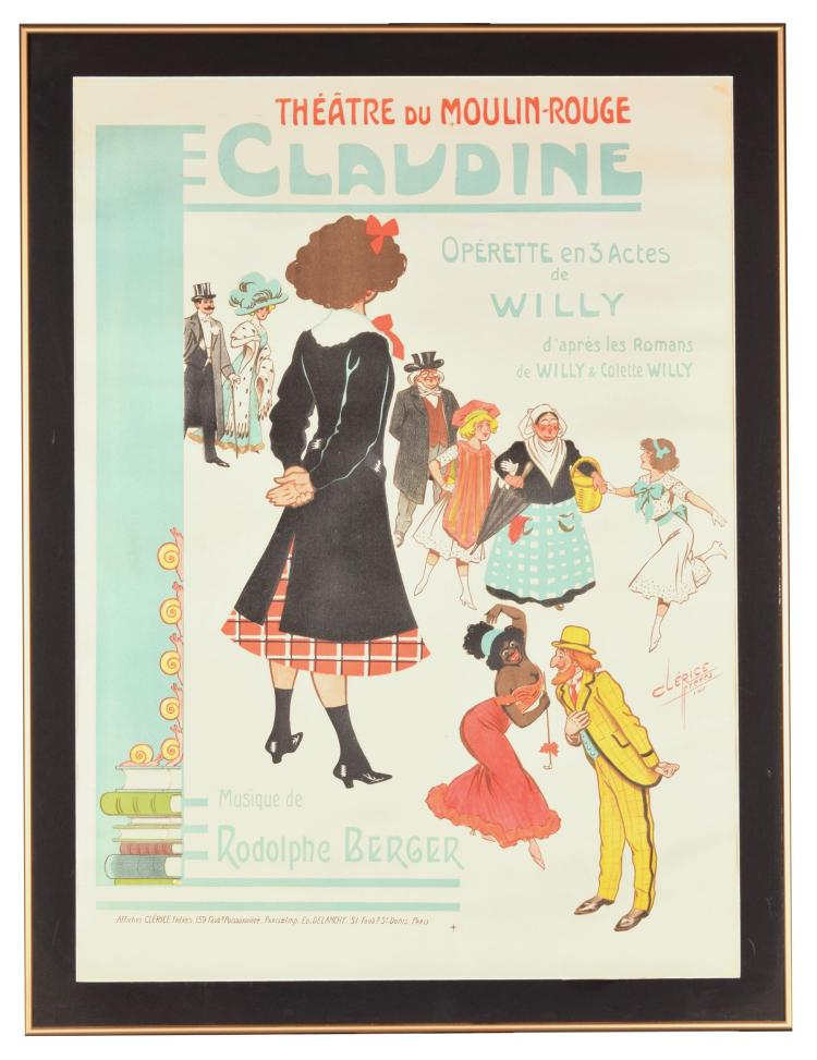 CLAUDINE FRENCH POSTER (FRANCE, EARLY 20TH CENTURY).