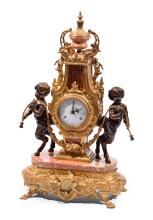 IMPERIAL MARBLE AND BRASS CLOCK.