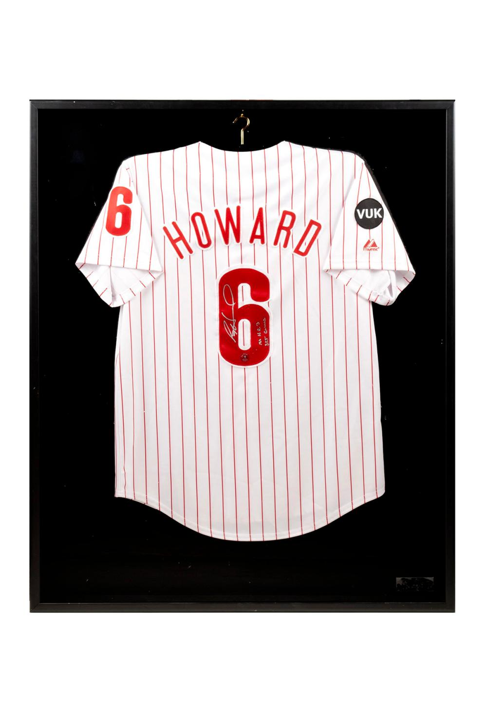 hot sale online 73782 fa07c RYAN HOWARD SIGNED PHILADELPHIA PHILLIES HOME JERSEY