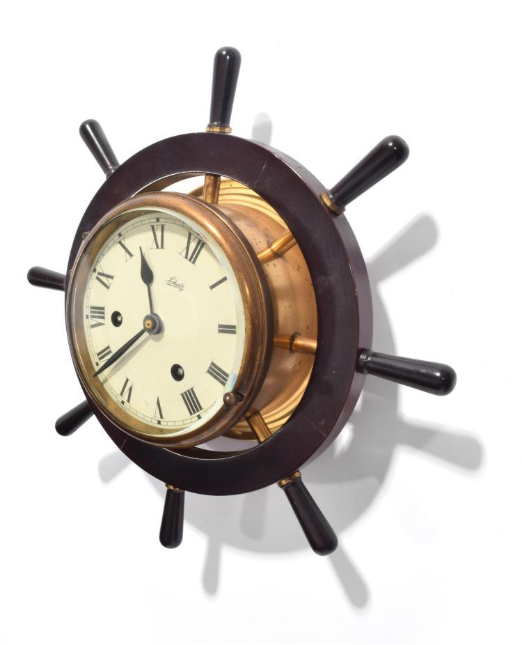 Schatz Amp Sohne Ship Wheel Wall Clock
