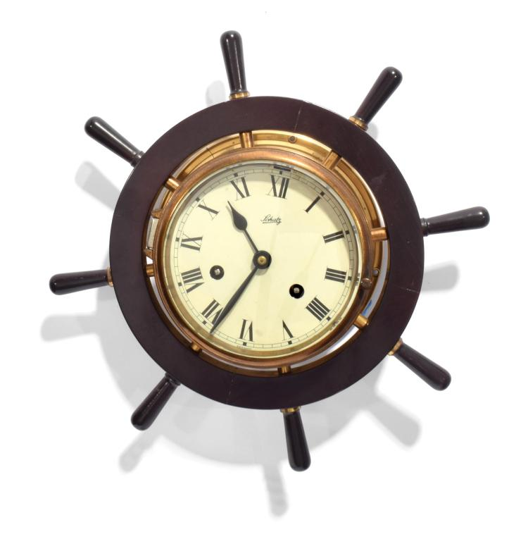 Schatz Amp Sohne Ship Wheel Wall Clock