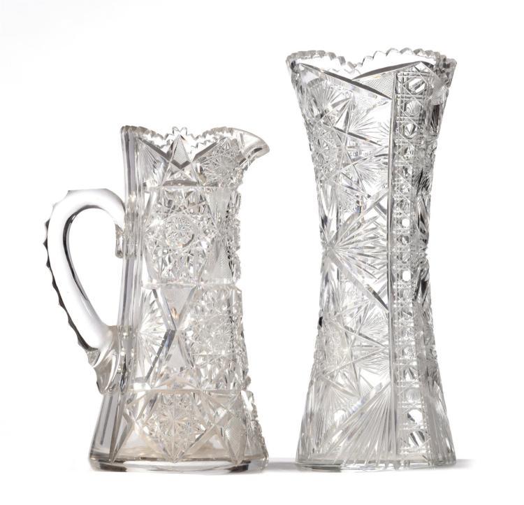 Two pieces antique cut glass for Antique decoration pieces