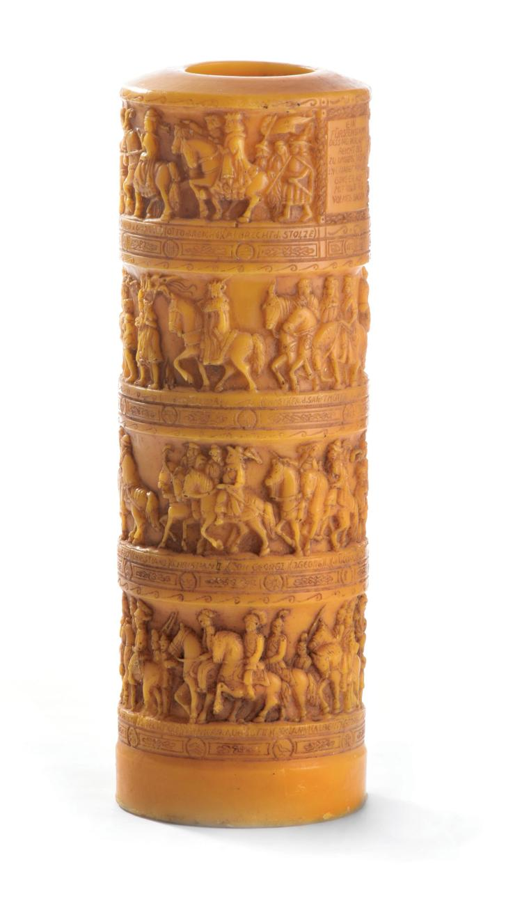 Large german carved candle