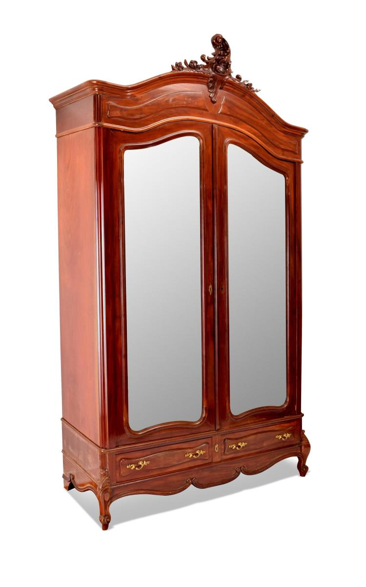 louis xv style armoire. Black Bedroom Furniture Sets. Home Design Ideas