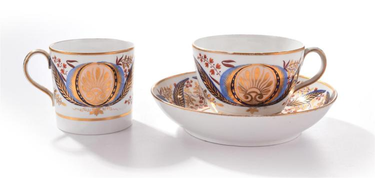 WEDGWOOD CUPS AND SAUCER.