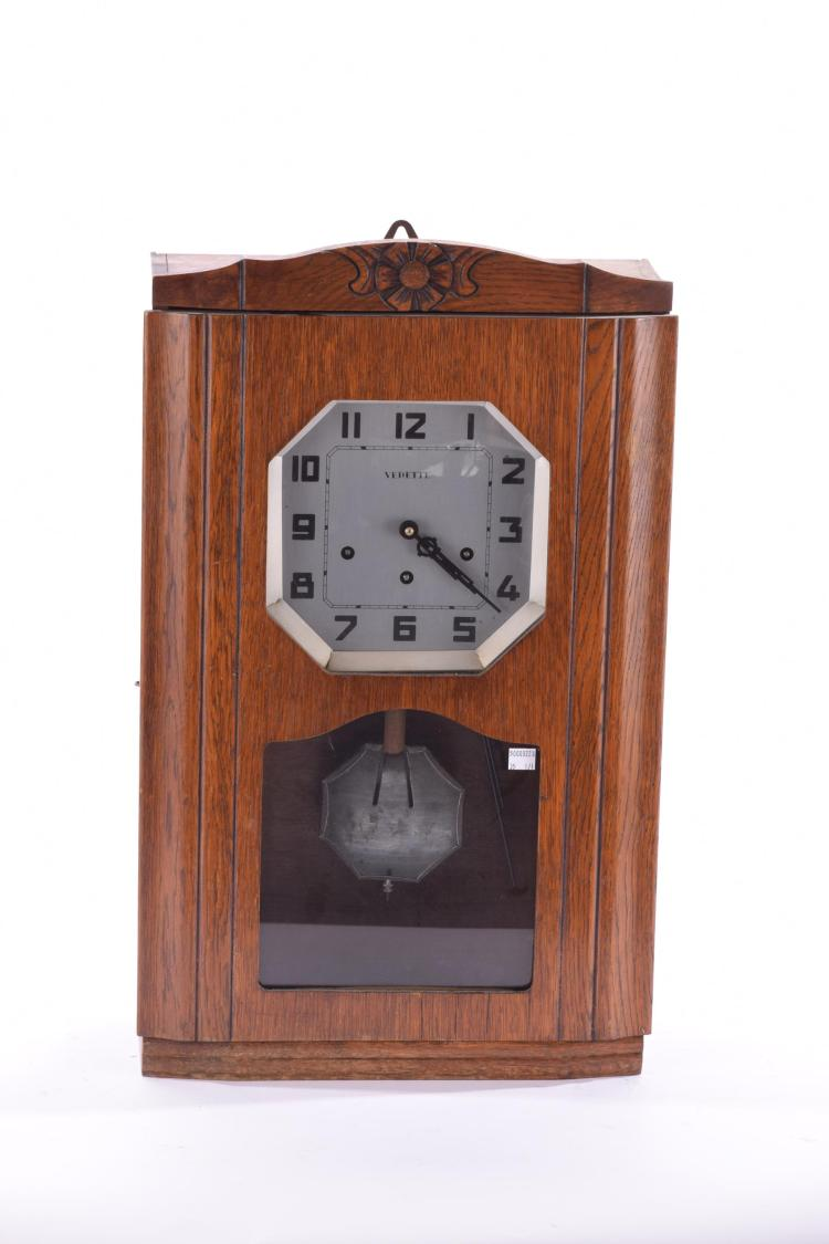 ART DECO MANTEL CLOCK BY VERDETTE.