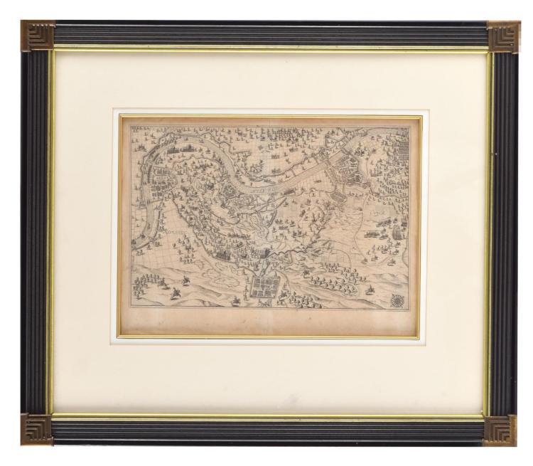 BATTLE MAP PRINT (18-19TH CENTURY).