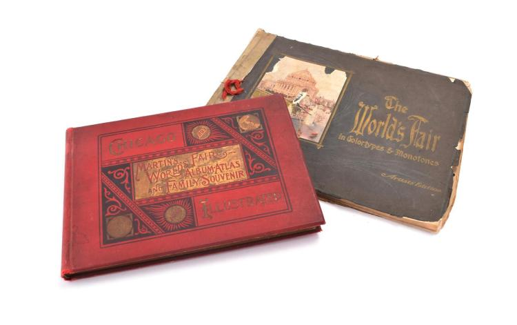 ST. LOUIS AND CHICAGO WORLDS FAIR BOOKS.