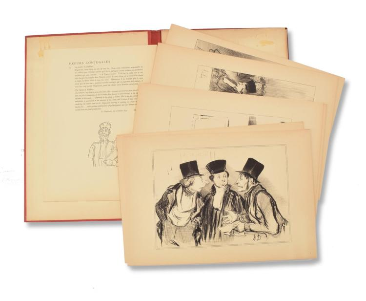 HONORE DAUMIER BOOK OF LITHOS.