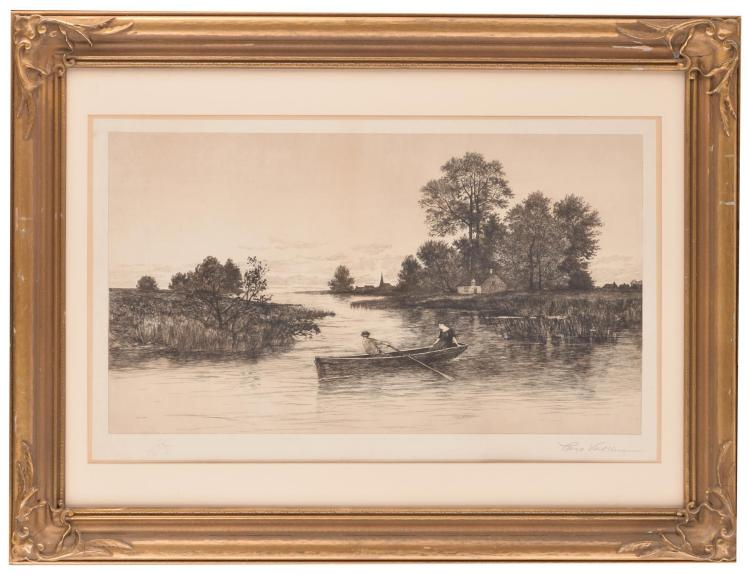 RIVERSCAPE (AMERICAN SCHOOL, LATE 19TH-EARLY 20TH CENTURY).