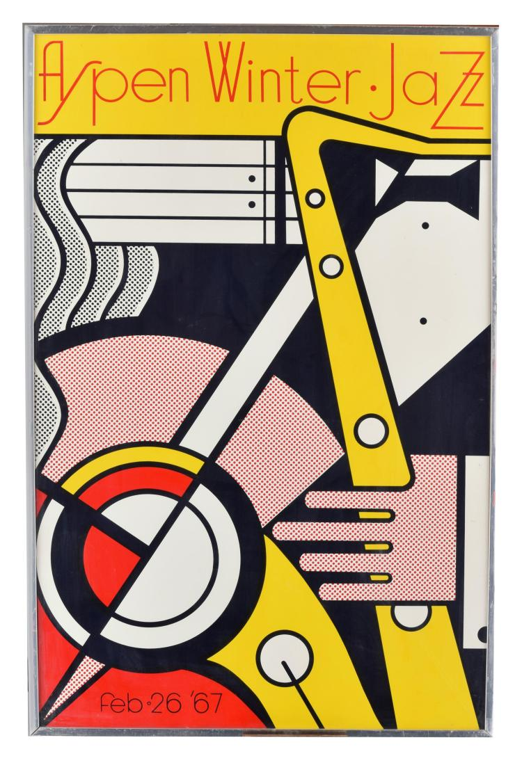 ASPEN WINTER JAZZ POSTER BY ROY LICHTENSTEIN (AMERICAN, 1923-1997).
