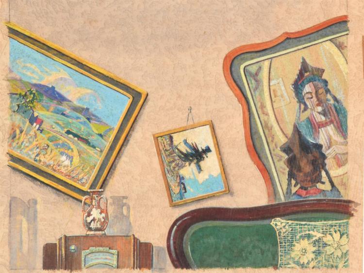 QUAKE BY OSCAR SOELLNER (AMERICAN, 1890-1952).