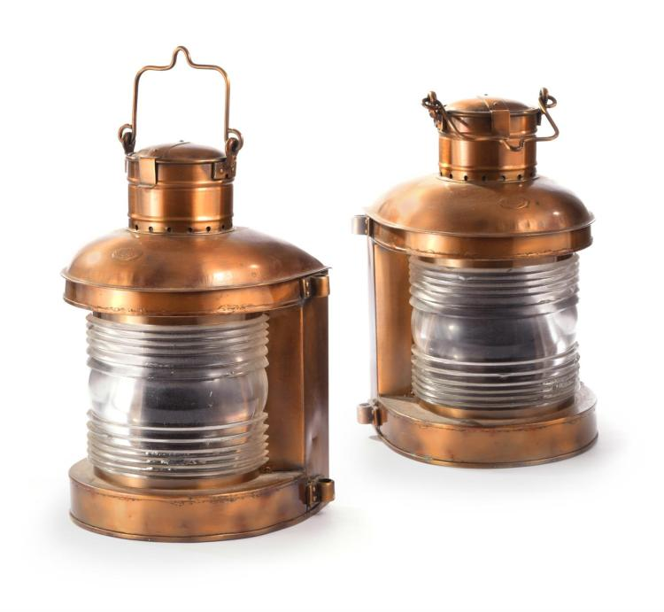 PAIR OF PERKO PERKINS MARITIME LAMPS.