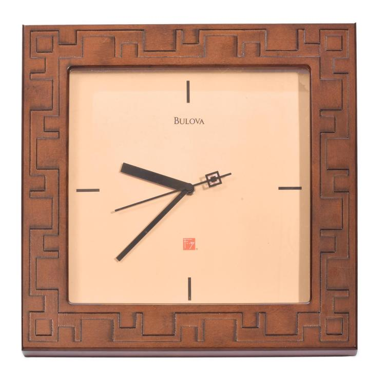 FRANK LLOYD WRIGHT CLOCK BY BULOVA.