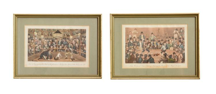 PAIR OF PRINTS BY GEORGE CRUIKSHANK (ENGLISH, 1792-1878).