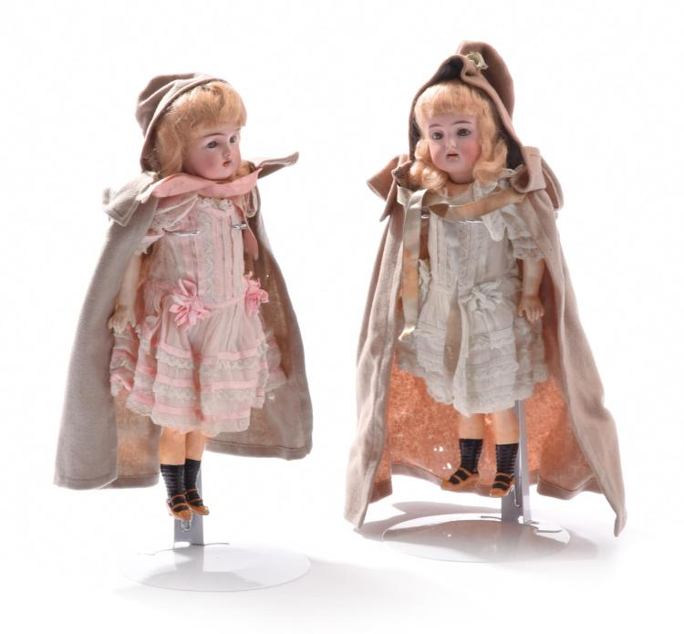 PAIR OF SIMON & HALBIG DOLLS.