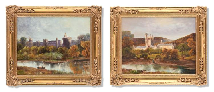 PAIR OF PAINTINGS (CONTINENTAL SCHOOL, 20TH CENTURY).