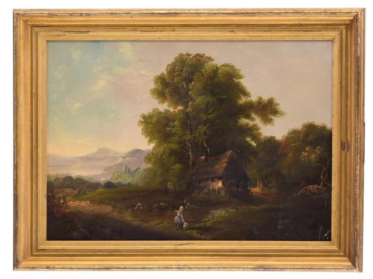 GENRE LANDSCAPE (CONTINENTAL SCHOOL, LATE 19TH-EARLY 20TH CENTURY).