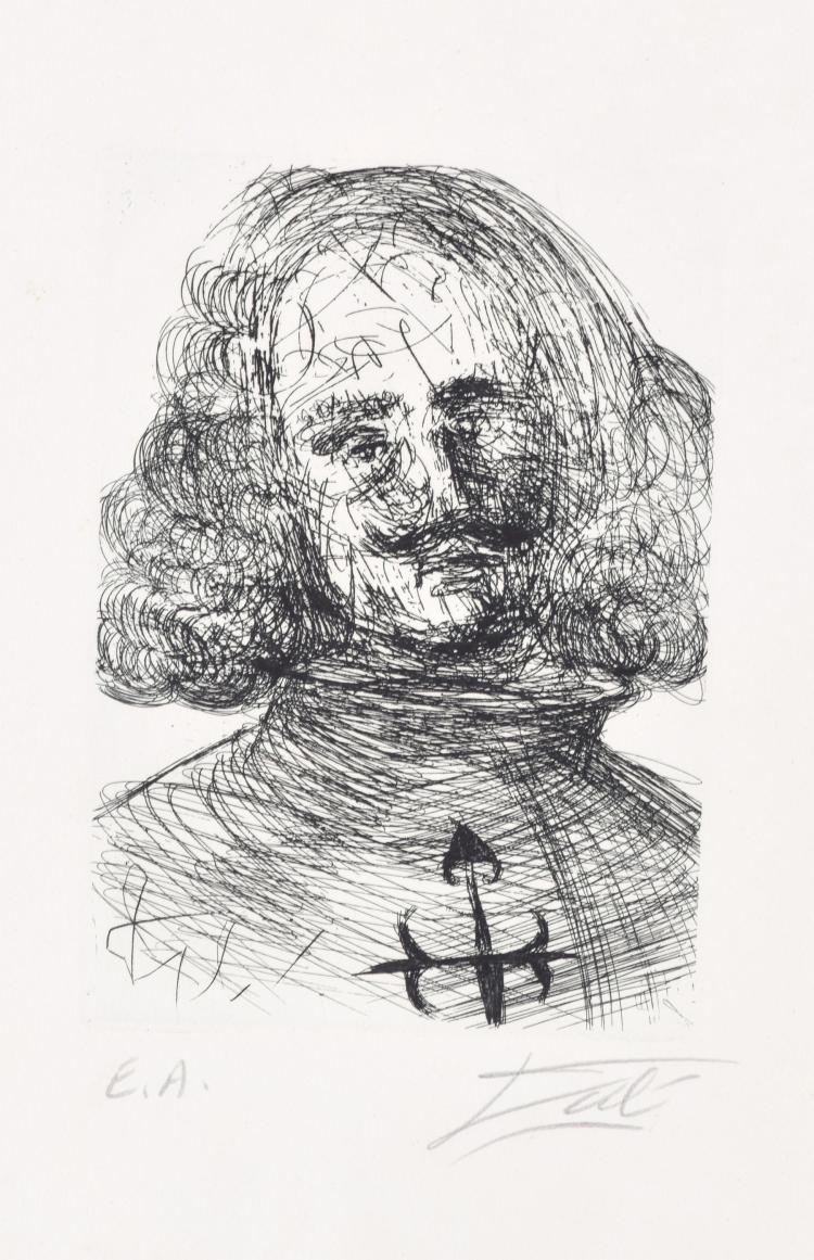 VELAZQUEZ BY SALVADOR DALI (SPANISH, 1904-1989).