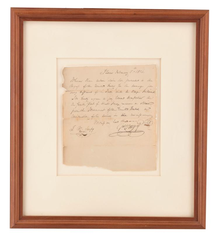 1816 HANDWRITTEN AMERICAN LEGAL CONTRACT.