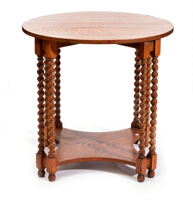OAK CENTER TABLE.