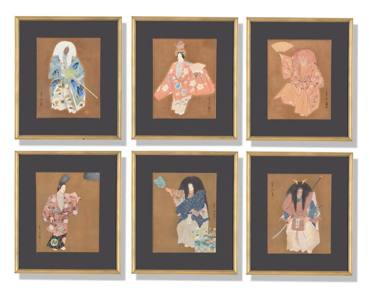 SET OF SIX ASIAN PRINTS.