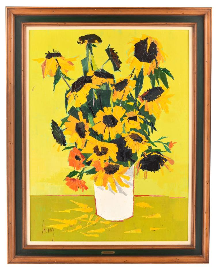 SUNFLOWER PAINTING (AMERICAN SCHOOL, MID-20TH CENTURY).