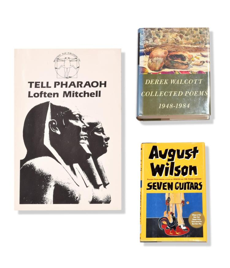 AUTOGRAPHED WORKS BY AFRICAN-AMERICAN PLAYWRIGHTS.