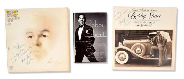 COLLECTION OF BOBBY SHORT BOOKS, RECORDS, AND PERSONAL CORRESPONDENCE.