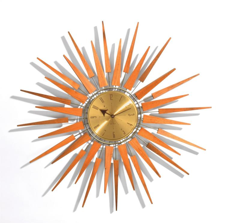 SETH THOMAS SUNBURST CLOCK.