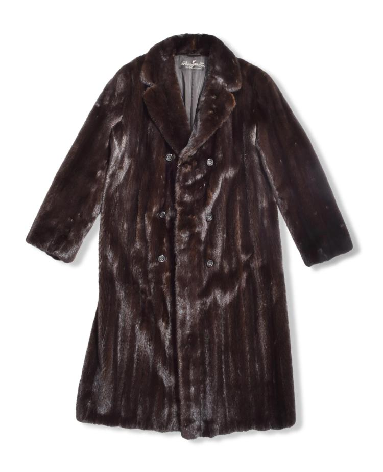 MENS FULL LENGTH MINK COAT.
