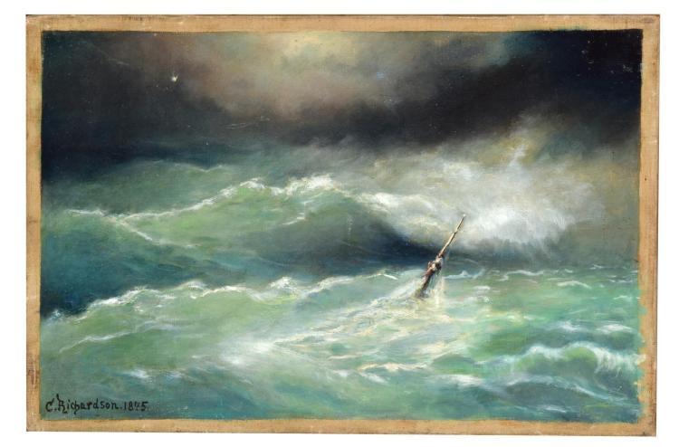 STORMY SEA BY CHARLES RICHARDSON (BRITISH, 1829-1908).