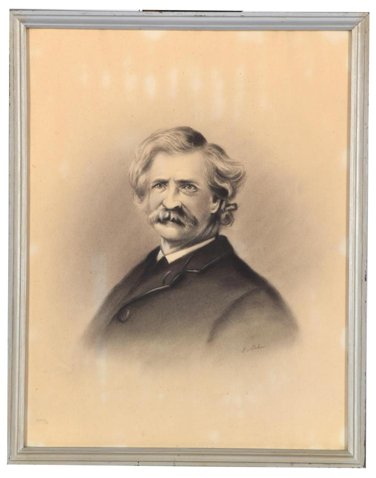 PORTRAIT OF MARK TWAIN (AMERICAN, EARLY-MID 20TH CENTURY).