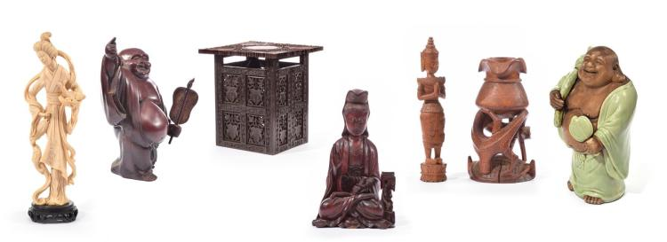 SEVEN ASIAN DECORATIVE ARTS.