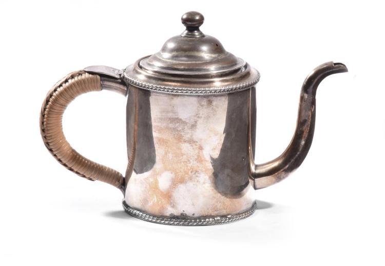 DIMINUTIVE SILVER TEA POT.