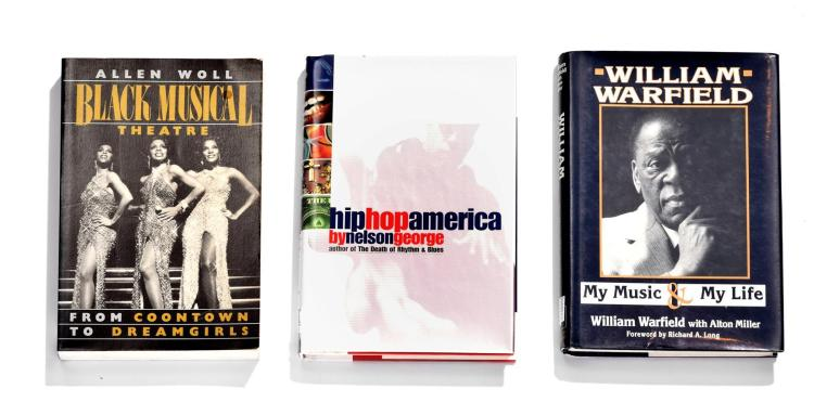 COLLECTION OF BOOKS ON AFRICAN-AMERICANS IN THE ENTERTAINMENT INDUSTRY.