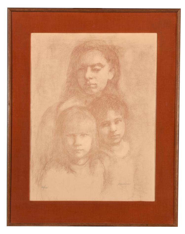 THE FAMILY BY E. NACHBAR (AMERICAN, MID-20TH CENTURY).
