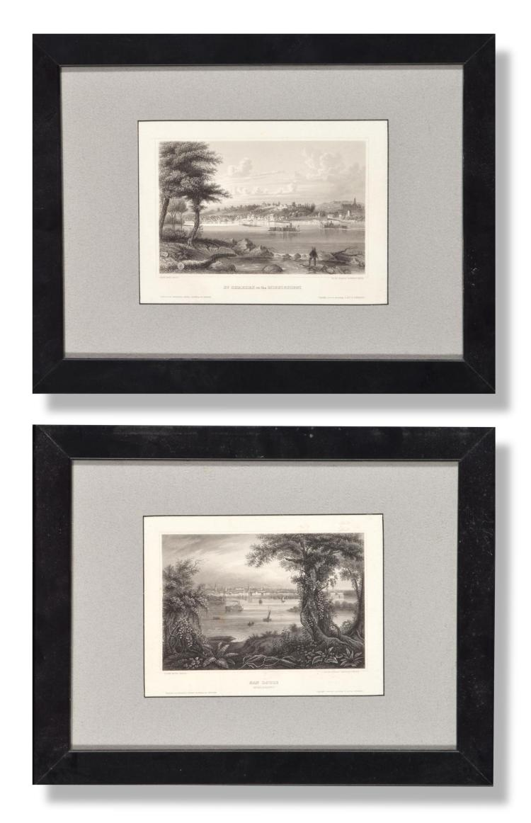 PAIR OF MISSISSIPPI RIVER ENGRAVINGS.