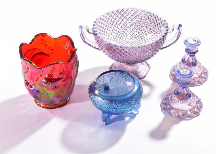 FENTON AND WESTMORELAND ART GLASS COLLECTION.