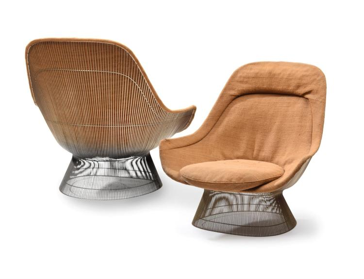 CLUB CHAIRS BY WARREN PLATNER.