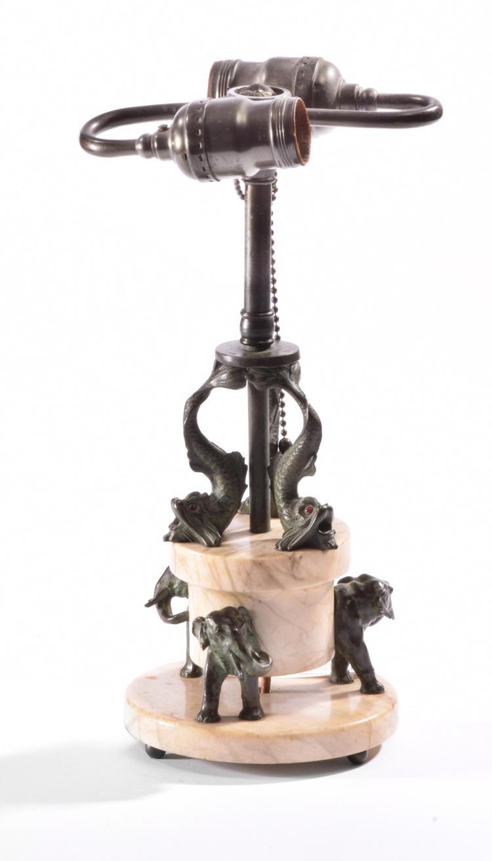 ONYX ELEPHANT LAMP.