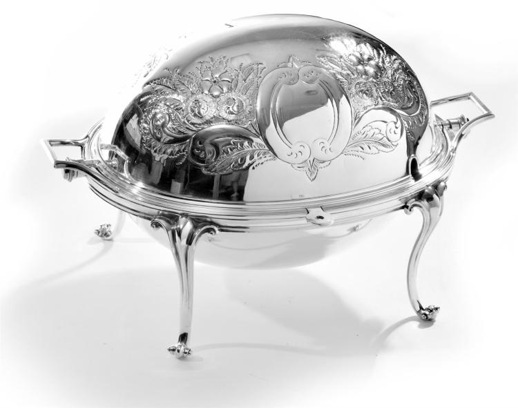SILVER PLATED BACON DISH.
