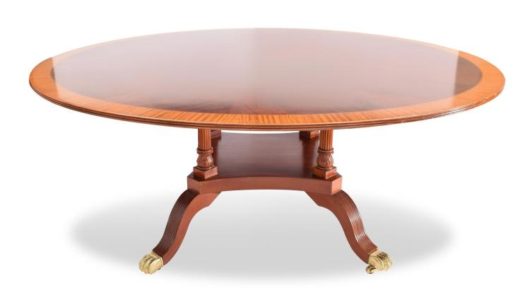 LARGE ROUND CENTER TABLE.