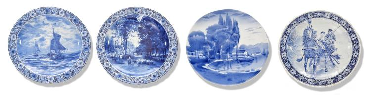 FOUR DELFT CHARGERS.