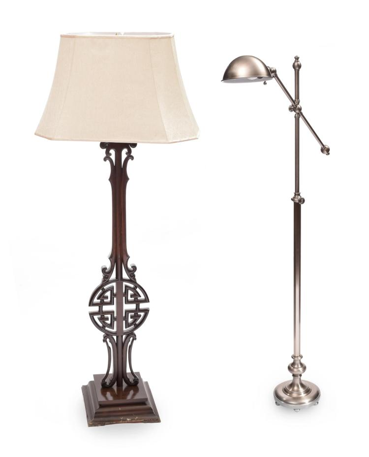 RESTORATION HARWARE FLOOR LAMPS.